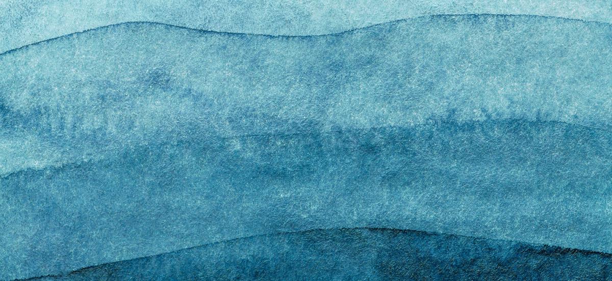 Abstraktes Bild mit horizontalen Wellen unterschiedlicher Blautöne