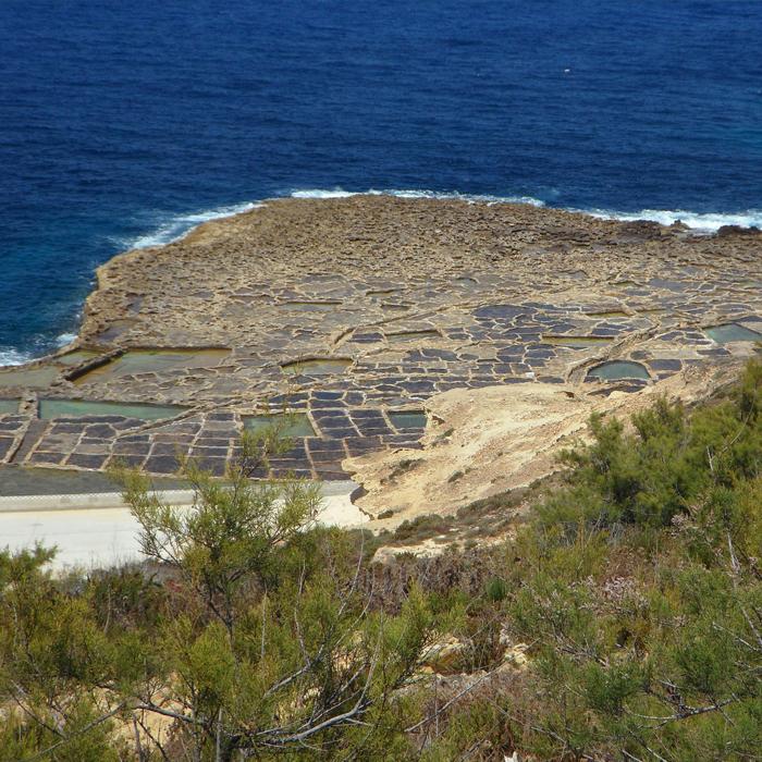 Salinen an mediterraner Küste